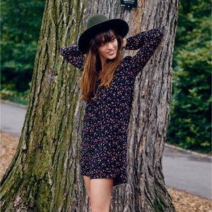 ✨Madewell Sézane Elly silk Shirtdress